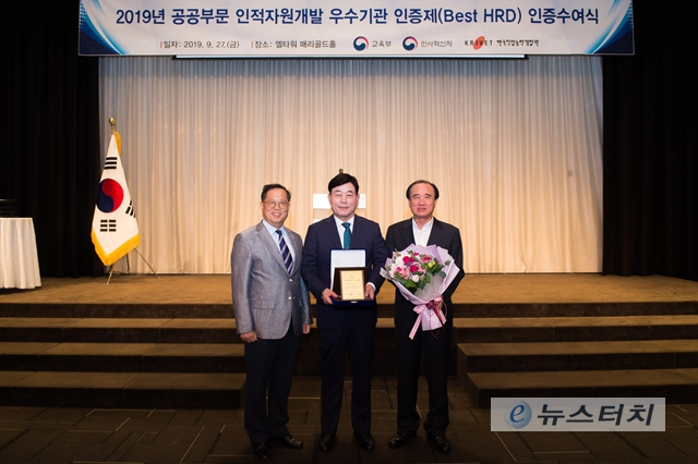 안양도시공사, 공공부문 인적자원개발 우수기관(Best HRD) 인증