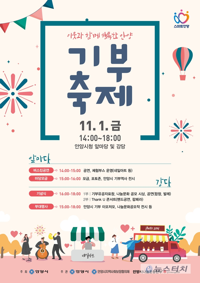 안양시 2019 기부축제, 1일 오후 2시  시청사 앞마당·강당에서