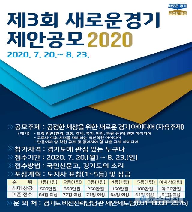 경기도, 제3회 '새로운 경기 제안 공모 2020' 개최