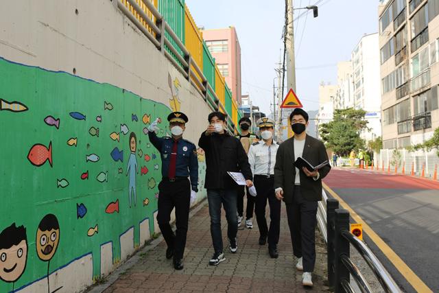 안양동안경찰서, 어린이보호구역 교통안전시설 점검