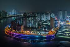 시흥시, 월곶해안로 야간경관 조명 설치 완료